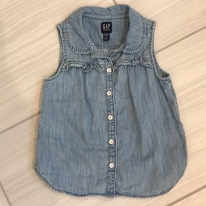 Gap denim chambray tank 4T